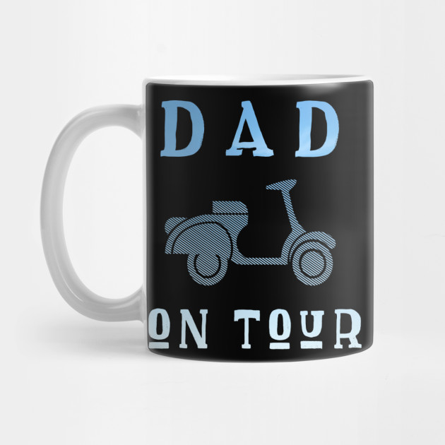 Dad on Tour Father Motorbike Biker Father's funny Mug