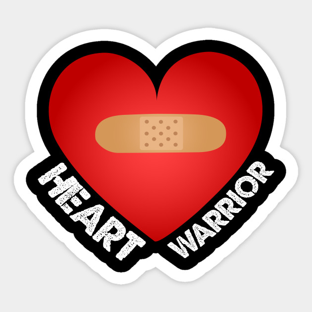 Heart Disease Awareness gift Heart Warrior Gifts Sticker