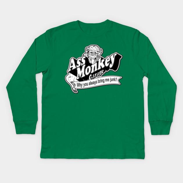3a1e622ed21 Ass Monkey Garage - Television - Kids Long Sleeve T-Shirt
