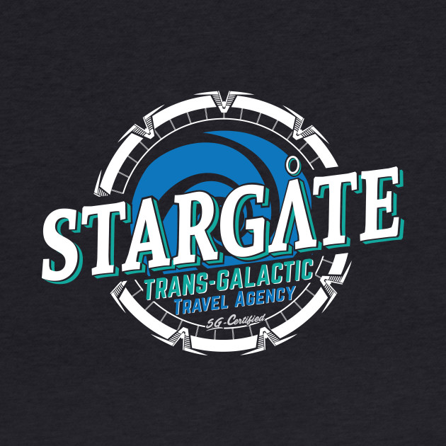 Stargate - Trans-galactic travel agency - blue