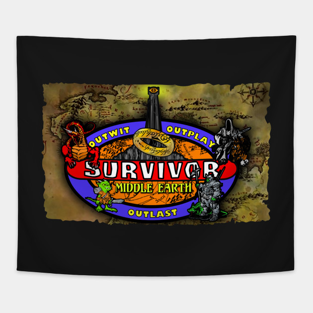 Middle Earth Survivor Map Middle Earth Survivor Map Tapestry