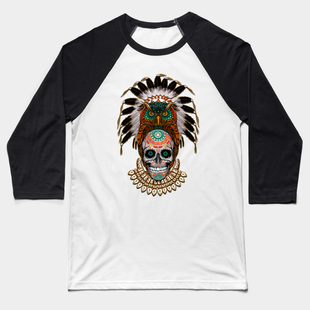 indian native Owl sugar Skull