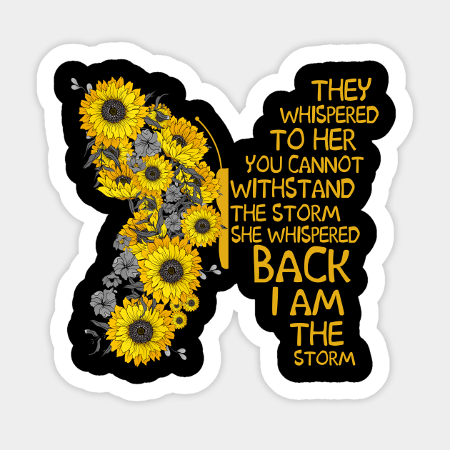 Sunflower Native Girl She Whispered Back I Am The Storm Wall Art Poster No Frame