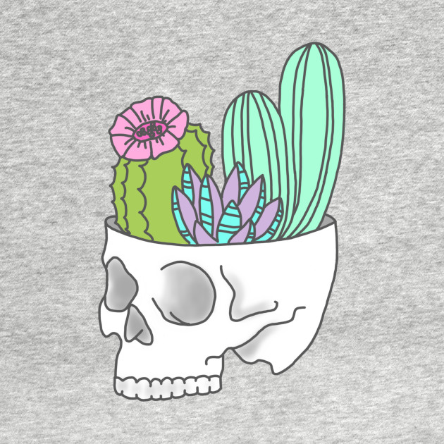 Skull succulent feminist skeleton cactus southwest girly ...