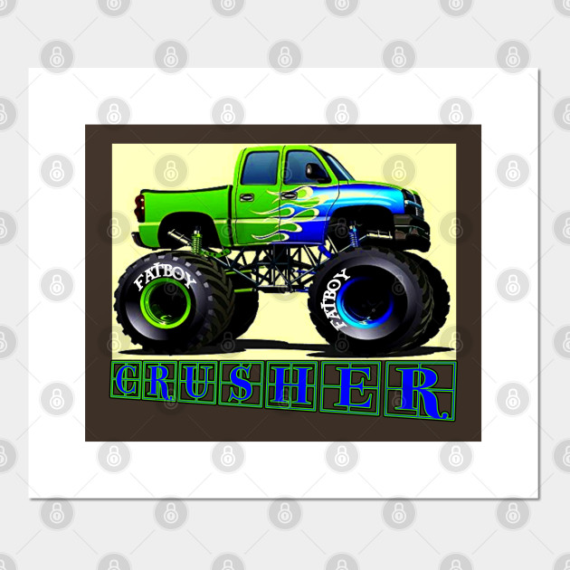 Crusher Monster Truck Monster Trucks Posters And Art Prints Teepublic Au