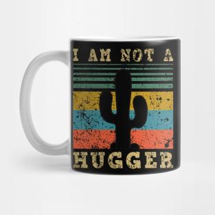 Cactus Mug I Am Not A Hugger Present Birthday