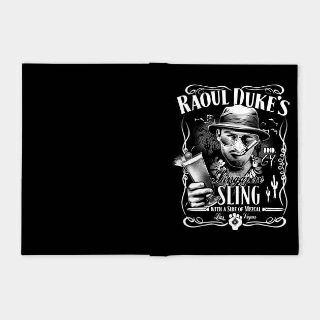 65951a82 Raoul Duke's Singapore Sling - Hunter S Thompson - Notebook | TeePublic