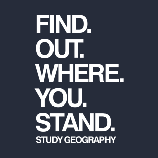 Study Geography Funny School Subject t-shirts