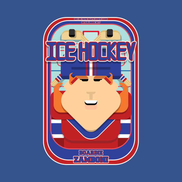Ice Hockey Red and Blue - Faceov Puckslapper - Jacqui version