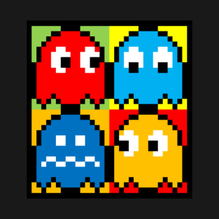 Pac Man Ghosts t-shirts