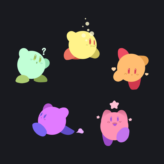 Rainbow Kirbys