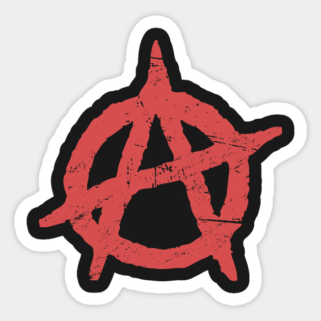 Distressed Punk Anarchy Symbol Punk Sticker Teepublic