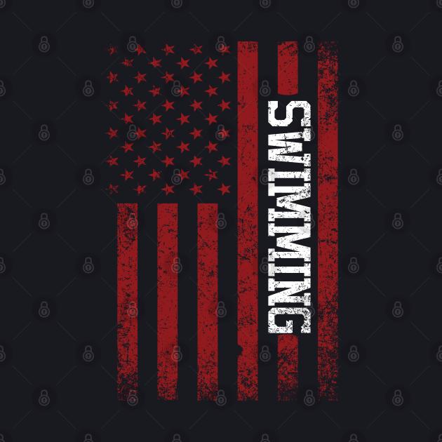 American Swimming Team Flag United States Swimmer Swim