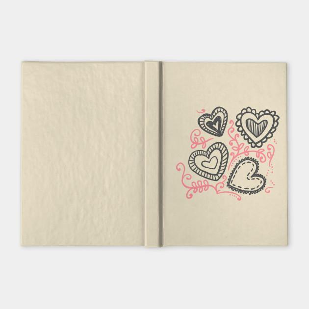 Hand Drawn Hearts Valentine's Day Pattern