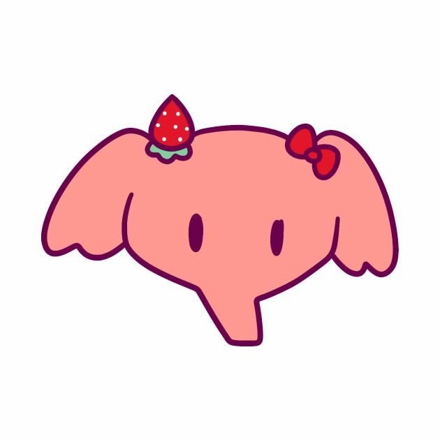 Strawberry Elephant Face