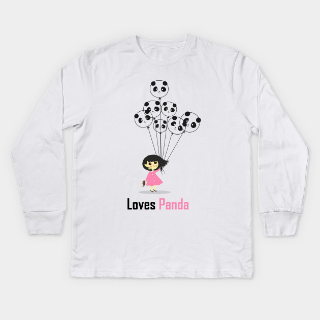 439396ad Girl Loves Panda T-Shirt - Panda Lovers Urban T-Shirt For Women Kids Long  Sleeve T-Shirt