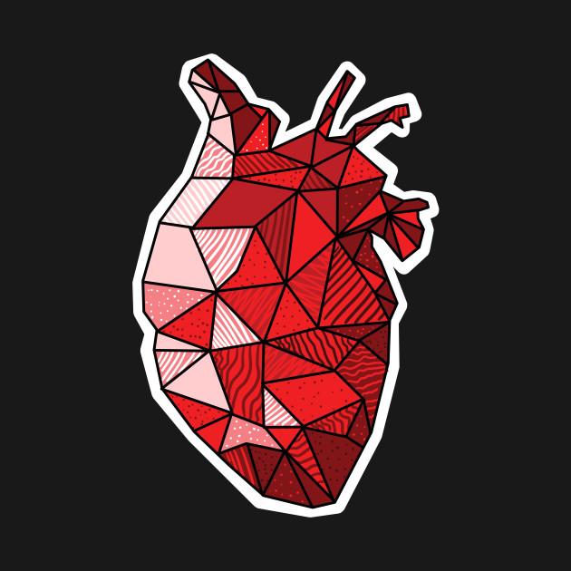 Real Anatomical Human Heart Drawing T-Shirt - Heart - T-Shirt ...