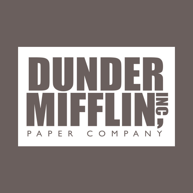 graphic relating to Dunder Mifflin Name Tag Printable named Dunder Mifflin