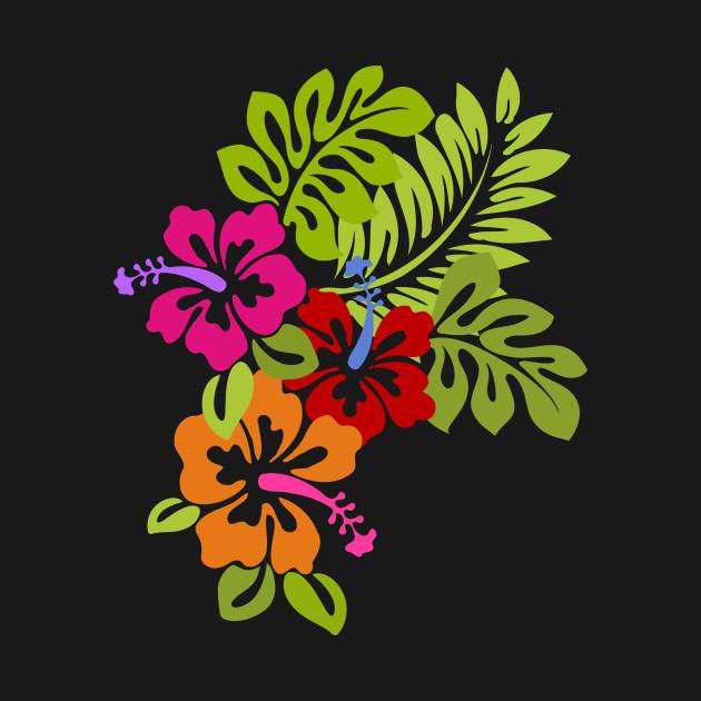 Tropical Hibiscus Flowers Bouquet