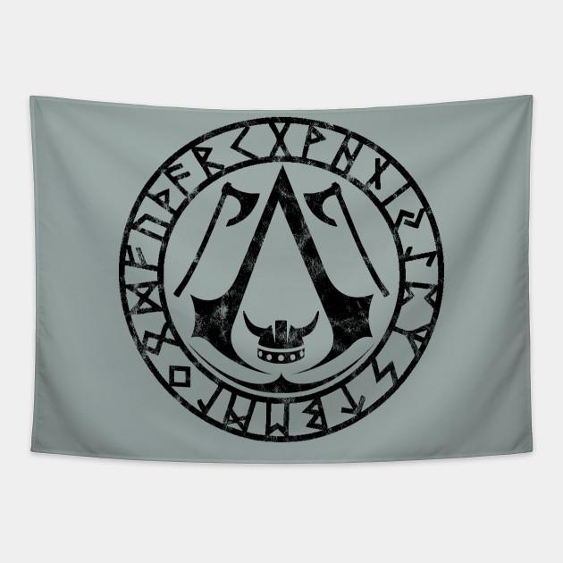 Assassin S Creed Valhalla Runes Assassins Creed Tapestry