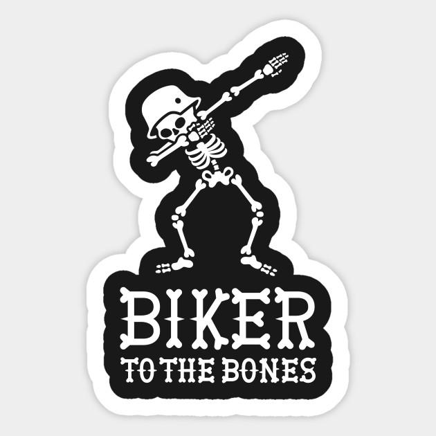 Bones Biker Sticker