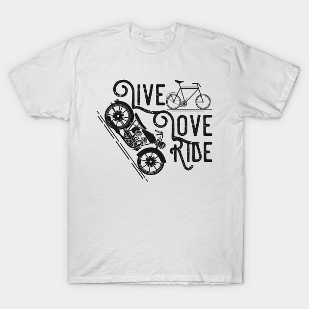 ride riding bicycle kids child like motorcycles drawing funny vector flat art design illustration ideas creative modern style black and white t shirt - White T Shirt Design Ideas