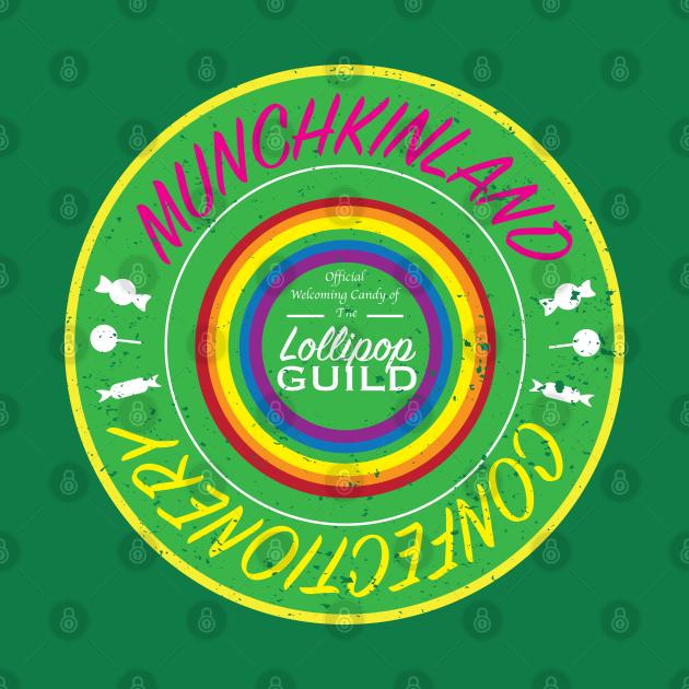 Munchkinland Confectionery Logo (Vintage look)