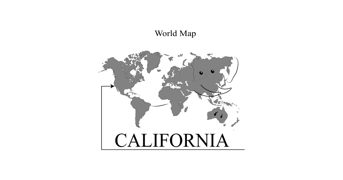 Map Of California Funny.A Funny Map Of The World By Percivalrussell