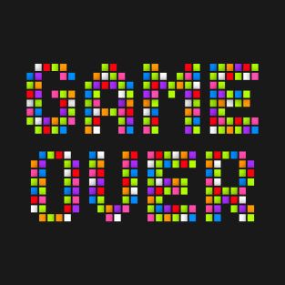 Game Over Pixels t-shirts
