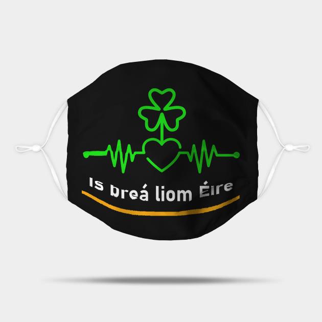 I love Ireland Irish Shamrock Heartbeat - Gaeilge
