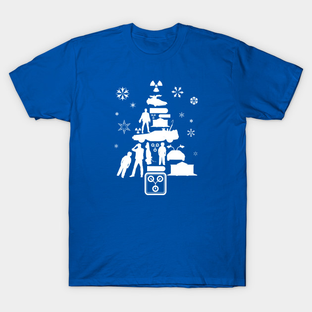 66b8e4c7a90a Back To The Future Christmas Tree Silhouette White - Back To The ...
