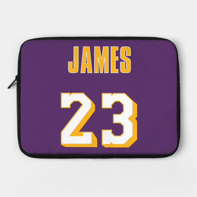 new concept e529a 8eba6 LeBron James Throwback Lakers Jersey 2 by rattraptees