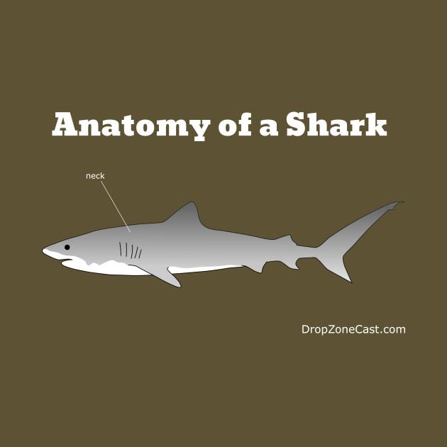 Anatomy of a Shark T-Shirt (white text) - Anatomy Of A Shark White ...