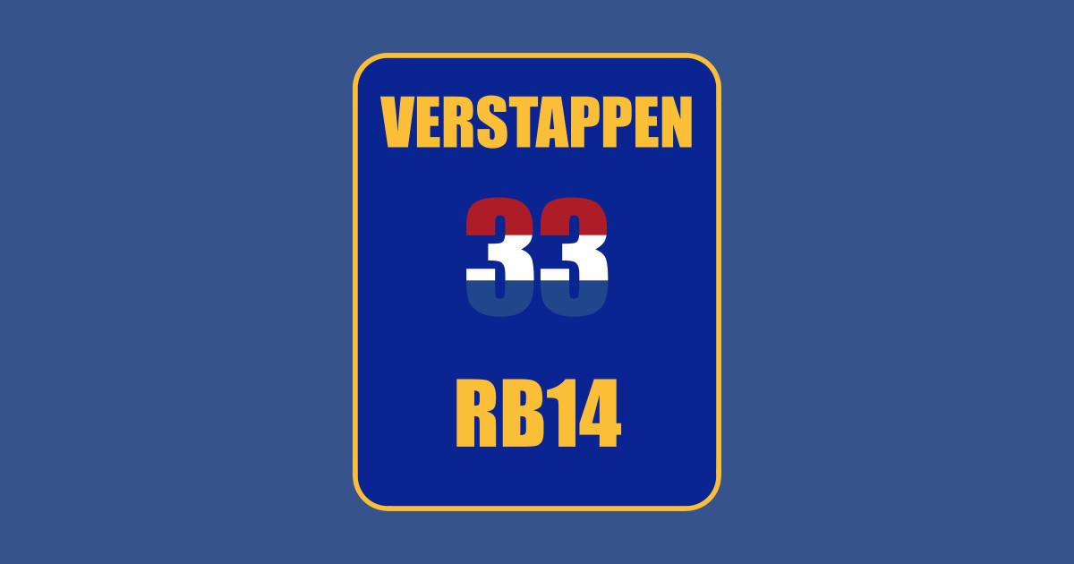 Verwonderlijk Max Verstappen RB14 F1 33 Design - Verstappen - Sticker   TeePublic HI-06