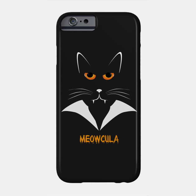 6306fa11d Meowcula Funny Cat Vampire Dracula Halloween Tee Shirt gift Phone Case