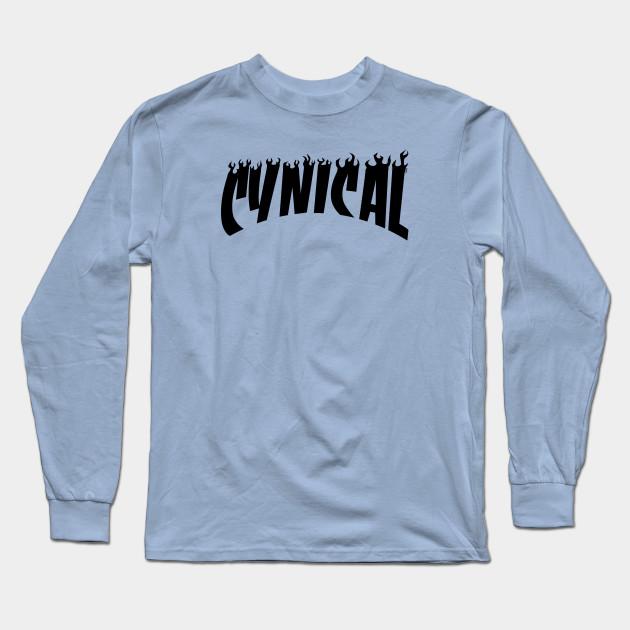 Cynical (THRASHER Magazine Tee Parody) Black Edition Long Sleeve T-Shirt 27ed9aa625d0