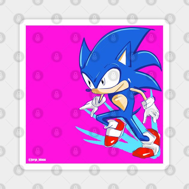 Sonic The Hedgehog Running Sonic The Hegdehog Magnet Teepublic