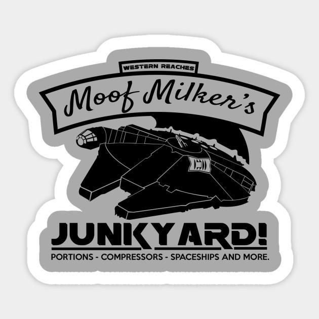 moof milker star wars sticker teepublic
