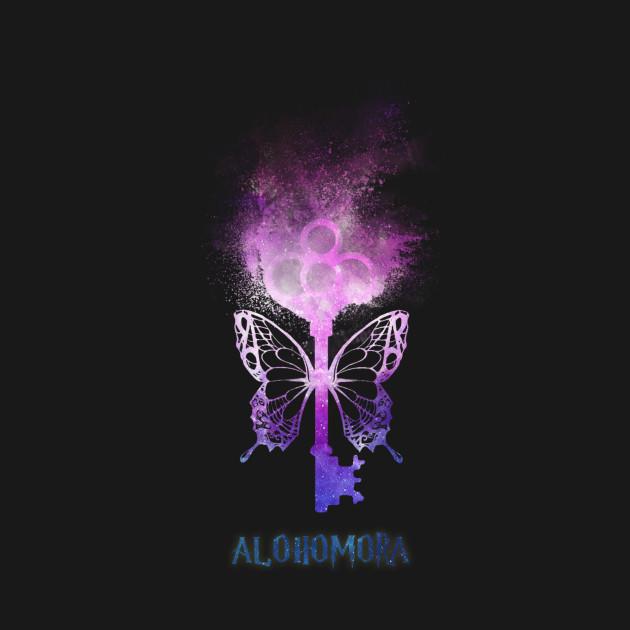 Harry Potter - Alohomora - magic flying key (galaxy sand explosion) - Spell  - Potterhead