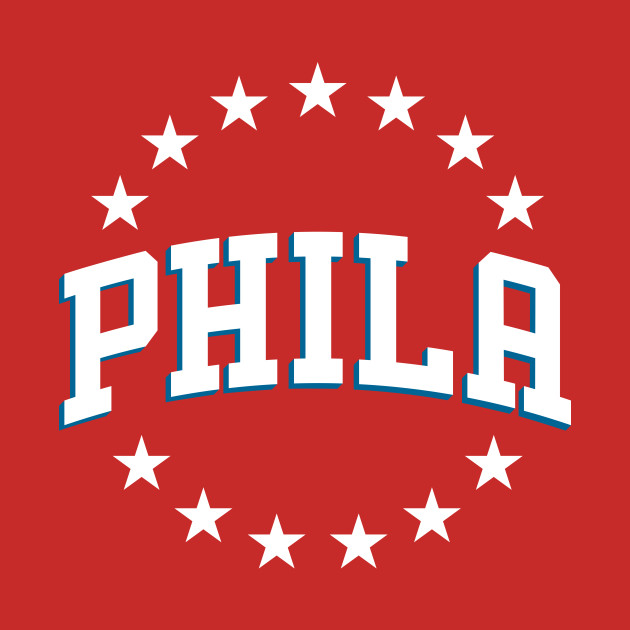 76ers Phila City (white on blue)