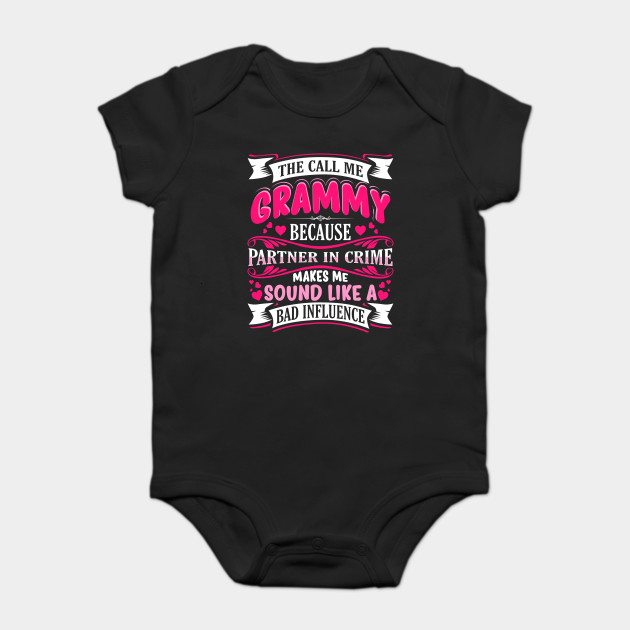 bce377ad Grammy Partner in Crime Funny - Grammy Cute - Onesie | TeePublic
