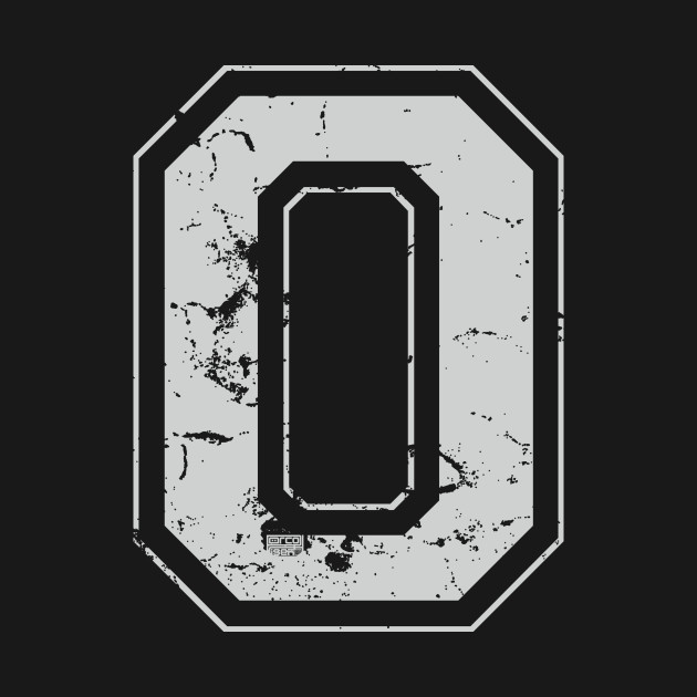 Initial Letter O Gray Jersey Sports Athletic Player