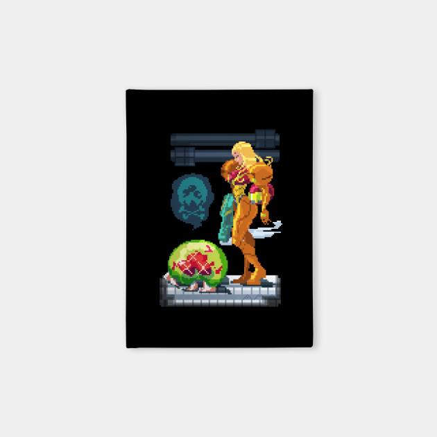 Samus Aran pixel art: fresh kill