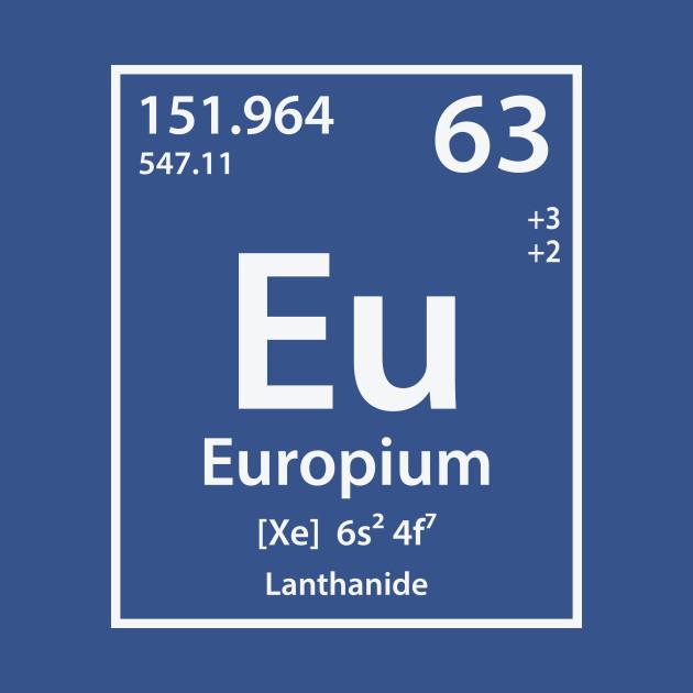 Europium Element Europium Onesie Teepublic