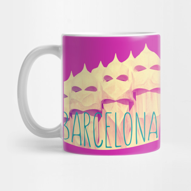 Barcelona gaudi paradise barcelona city mug teepublic for Mug barcelona