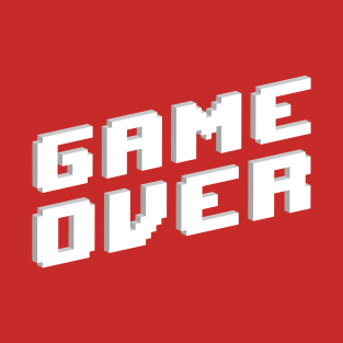 Retro Game Over t-shirts