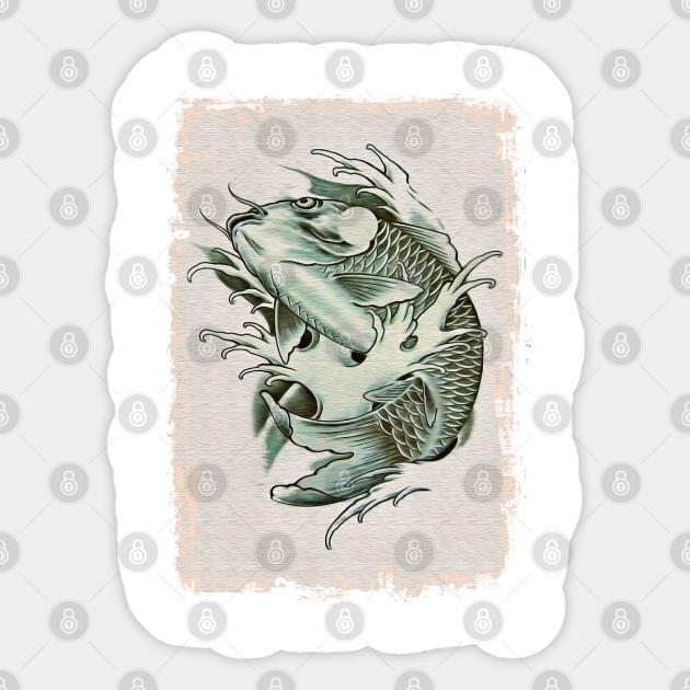 Japanese Koi Carp 16 Koi Sticker Teepublic
