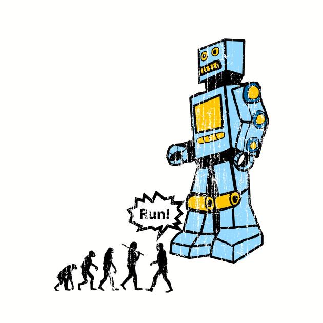 Vintage Retro Robot Humor