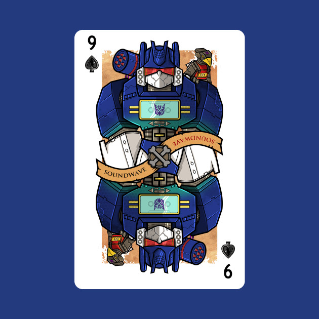 Soundwave Playing Card (Transformers)