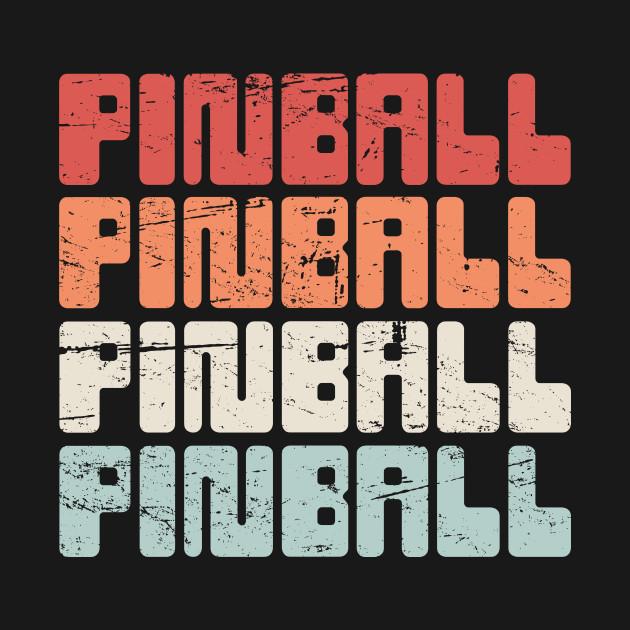 Vintage PINBALL Arcade Text